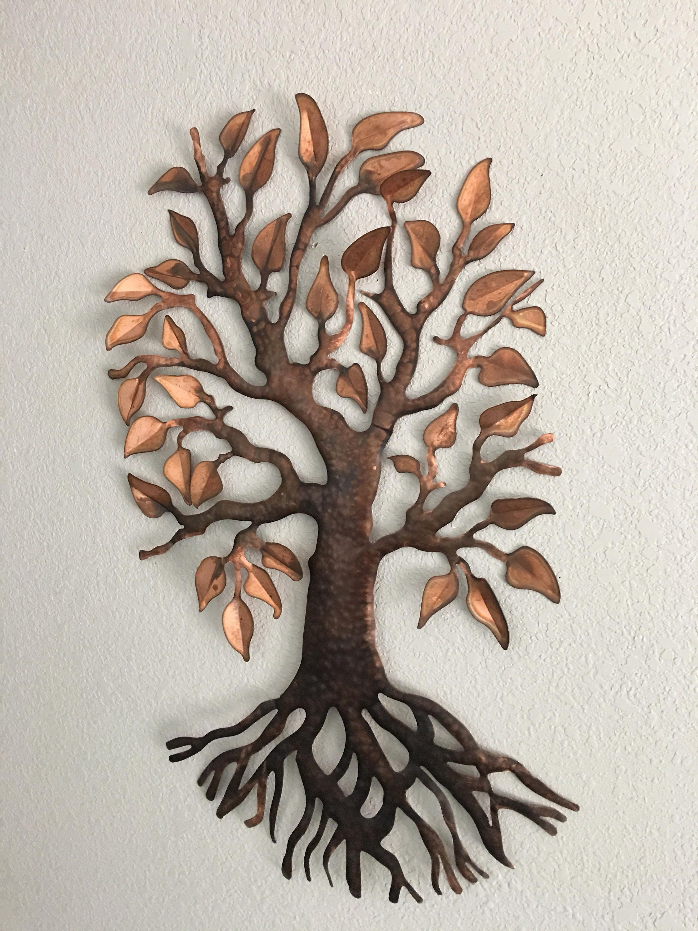 Metal Tree Wall Hanging Copper Metal Tree  Home Decor  Wall Hanging  Metal Art