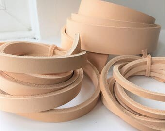 80 inch long Natural Vegetable Tanned Leather Straps Strips Belt Blanks various width 10-100mm 2.5mm thick