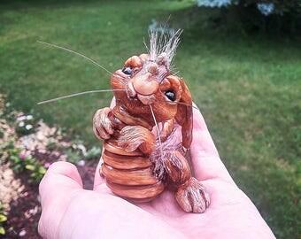 Hand Sculpted OOAK Bunny-Saurus
