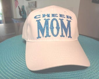 1 Hat Curved Brim Unstructured Cheer Mom Caps Hats Vinyl lettering Friend Famly Teams school Song Squad  Nana Gramhat cap hats