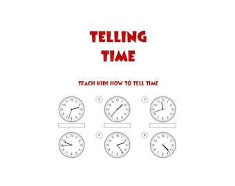 Telling Time Picture Exercises PDF Educational e-Books Home Schooling