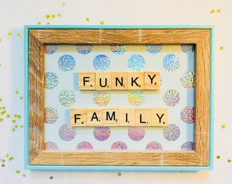 Scrabble Frame Funky Family