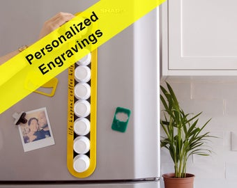 Personalized Engraving Yellow Keurig Coffee Pod Storage, Custom Quote Gift,  K-Cup Holder, Magnetic Wall Storage, Home Gift, Plexiglas Decor