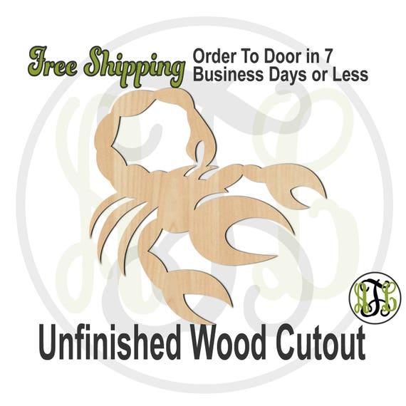 Scorpio- 430010- Zodiac Cutout, unfinished, wood cutout, wood craft, laser cut shape, wood cut out, Horoscope, wooden, Oct 23 - Nov 21
