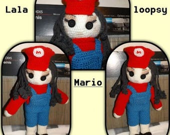 Crochet Lala loopsy Mario doll making tutorial (includes the doll and clothes