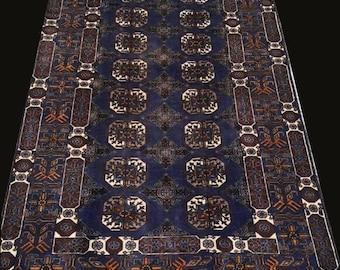 FREE SHIPPING Vintage Akhal Gol Bokhara Morey Durable Carpet