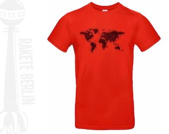 T-Shirt 'World map - drawing'