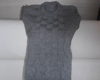 Wool Sweater. Clear ans.gris Acrylique.10