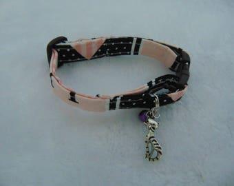 Pink and Navy breakaway cat collar