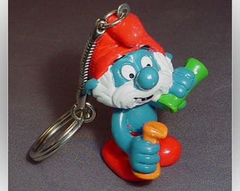 Papa Smurf 1983 Keychain Figural Ornament Cake Topper
