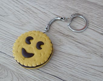 key cake filled with fimo polymer clay chocolate