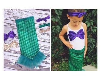 Complete Mystic Mermaid Set, Mermaid Costume, Mermaid, Mermaid Set, Halloween Costume, Birthday Outfit, Mermaid Outfit, Ariel Costume