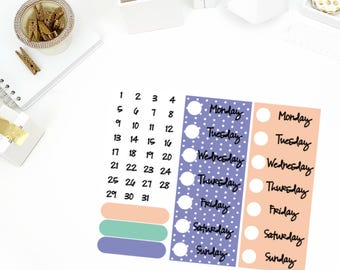 Bunny Hop Date Cover Up Stickers! Perfect for your Erin Condren Life Planner, calendar, Paper Plum, Filofax!
