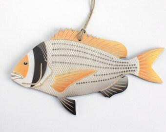 Yellowfin Sea Bream Fish Christmas Ornament