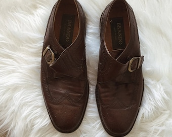 Vintage Leather Buckle Shoes