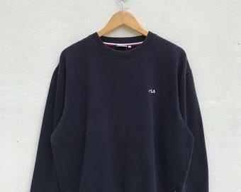 "20% OFF Vintage Fila Embroidery Logo Sweatshirt / Fila Sweater / Fila Italia / Fila Tennis / Armpit 26"""