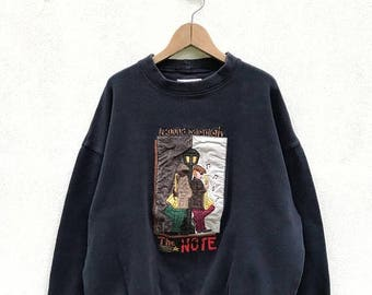 "20% OFF Vintage Castelbajac Around Midnight The Note   Sweatshirt / Jean Carles de Castelbajac Sweater / Castelbajac Pullover / Armpit 26"""