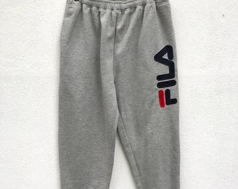 20% OFF Vintage Fila Embroidery Big Logo Pants / Fila Jogger Pants / Fila Italy / Sportwear / Fila Tennis