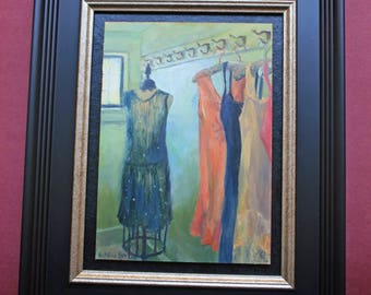 Ready to Wear, Original Oil Painting, Fashion