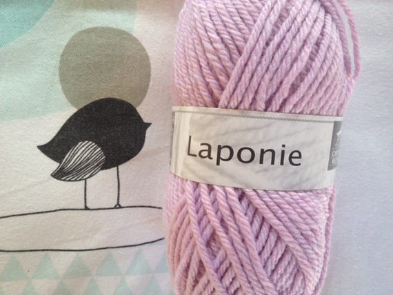 WOOL LAPLAND purple - white horse