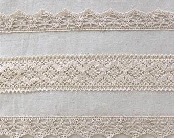 Quilters Squares, 14 x 14 inches, Calico,  cotton lace, home made, craft projects