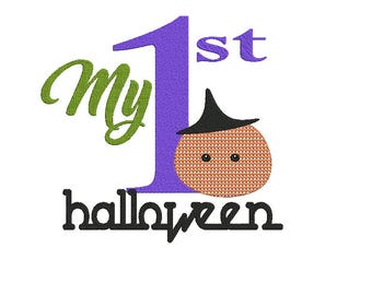 My First Halloween Embroidery Design, Halloween Embroidery Design, Halloween Digital Embroidery,Haloween embroidery 5X7 Embroidery machine