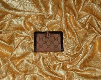 Genuine vintage Gucci wallet - fabric and genuine leather