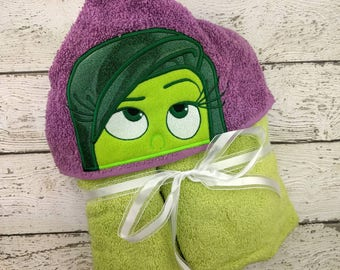READY TO SHIP Disgust Children's Hooded Towel