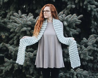 Chunky Knit Scarf Open Ended Extra-Thick || THE FOXTAIL PINE