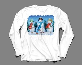 Snowman Trio T-shirt L XL 2X 3X 4X