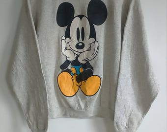 Rare Vintage Mickey Mouse Sweatshirt Size L