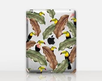 Floral Toucan Transparent iPad Case For - iPad 2, iPad 3, iPad 4 - iPad Mini - iPad Air - iPad Mini 4 - iPad Pro