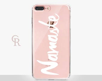 Namaste iPhone 6 Case - Clear Case - For iPhone 8 - iPhone X - iPhone 7 Plus - iPhone 6 - iPhone 6S - iPhone SE Transparent - Samsung S8