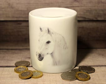 Hand Drawn Horse Money Box