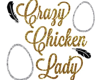 """4"""" Crazy Chicken Lady Decal"""