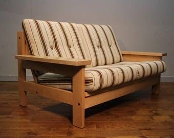 Vintage Danish Oak framed Sofa