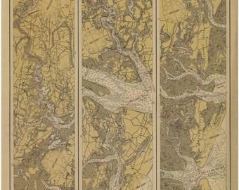 ICW Map - Charleston Harbor to Sapelo 1924