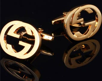 GG Italy Cufflinks in Yellow Gold Plated