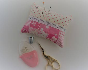 Patchwork Pincushion, Pin Cushion, Quilted, Sewing Gift.