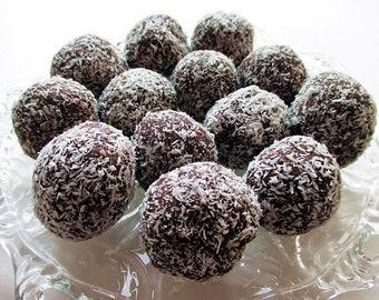 Coconut Chocolate BALLS (Kókuszgolyó; Chokladboll; Kokosboll) Hungarian Danish Dessert