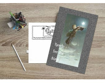 Reach for the Stars Card Customizable - Printable Digital Download