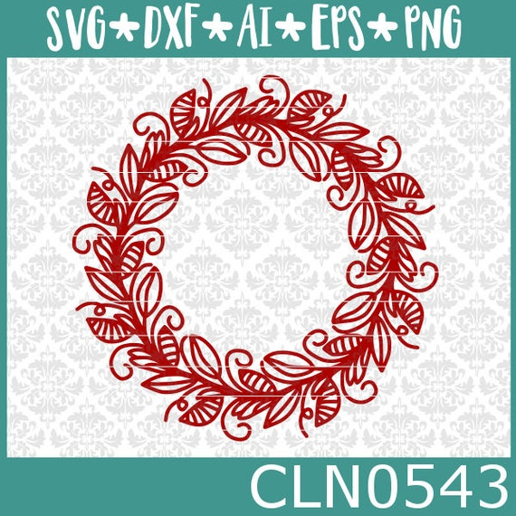 CLN0543 Mandala Flower Floral Hand Drawn FLowery Monogram SVG DXF Ai Eps PNG Vector INstant Download Commercial Cut File Cricut SIlhouette