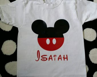 Mickey Shirt | Mickey Mouse Shirt | Mickey Mouse Birthday Shirt | Mickey Birthday Shirt | Disney Trip Shirt | Mickey wit Name Shirt |