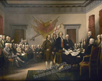 Poster, Many Sizes Available; Declaration Of Independence (1795) John Trumbull