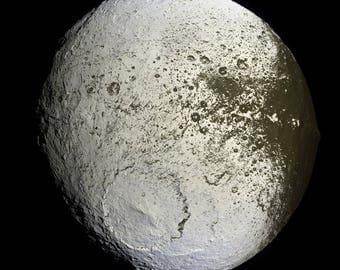 Poster, Many Sizes Available; Iapetus Moon Of Saturn'S Moon Iapetus