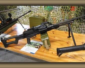 Poster, Many Sizes Available; 7,62 Kk Pkm Machine Gun Lippujuhlan Paiva 2013