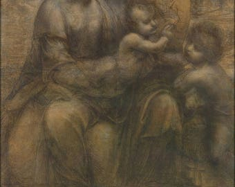 40% OFF SALE Poster, Many Sizes Available; The Virgin And Child With Saint Anne And Saint John The Baptist By Leonardo Da Vinci C1499