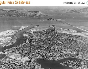 20% Off Sale - Poster, Many Sizes Available; Airplane View Of The San Francisco Bay Area Looking West, Taken Over Lake Merritt -  - 296828