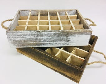 Essential Oil Tray, box, storage, distressed, white wash,