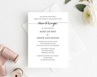 diy wedding invitation template. wedding invitation template, editable diy printable, personalized invitation, rustic diy template